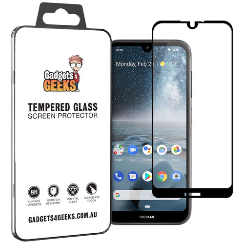 Full Coverage Tempered Glass Screen Protector for Nokia 4.2 - Black